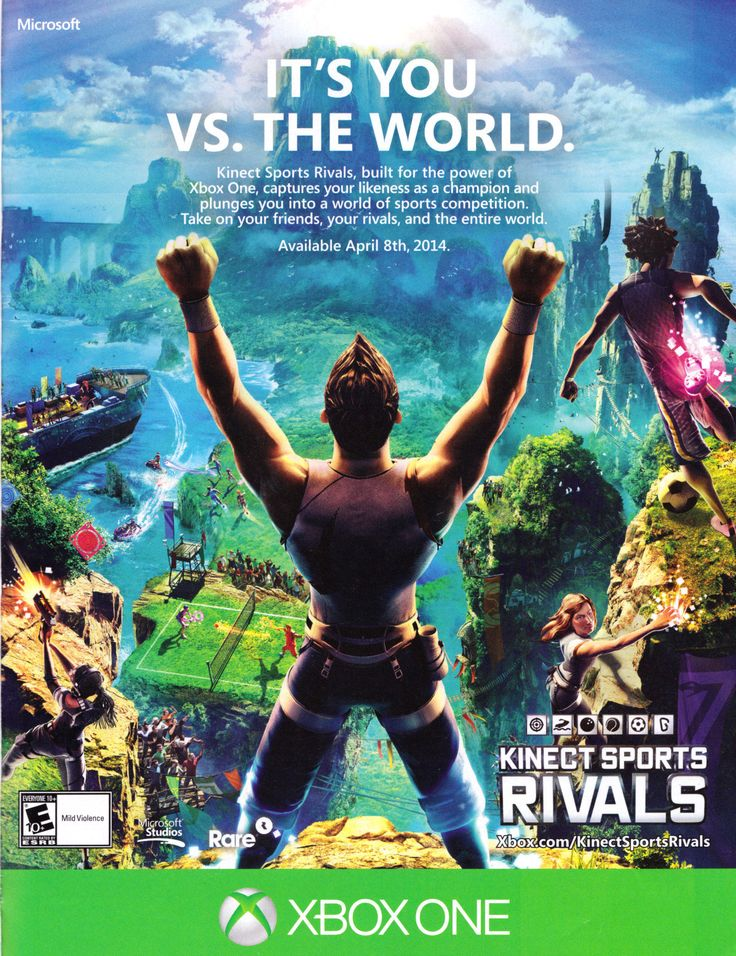 """""""Kinect Sports Rivals"""" • Official Xbox Magazine, May 2014"""