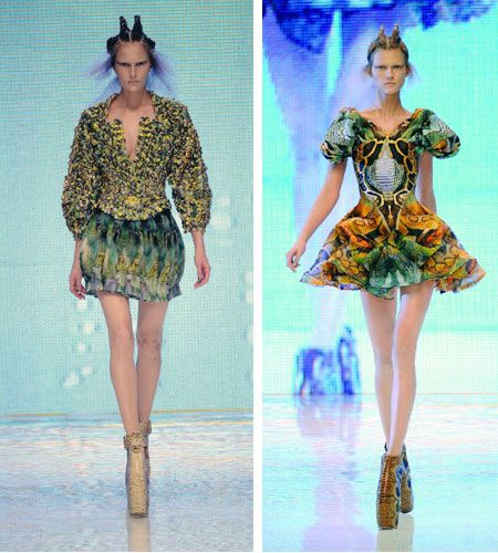 Alexander Mcqueen Spring/Summer 2010 collection inspired by different aspects of the Jungle such as butterflies, moths, beetles (Daryanani M, 2010)