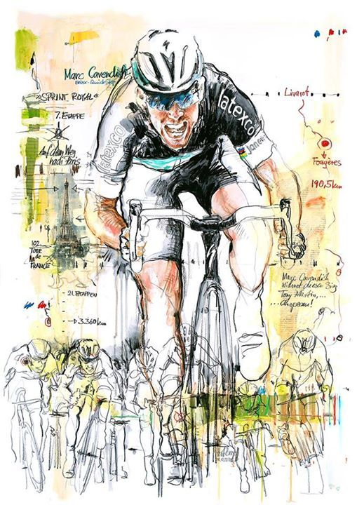 Mark Cavendish  by  Horst Brozy