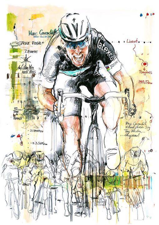 Mark Cavendish  by  Horst Brozy                                                                                                                                                                                 Más