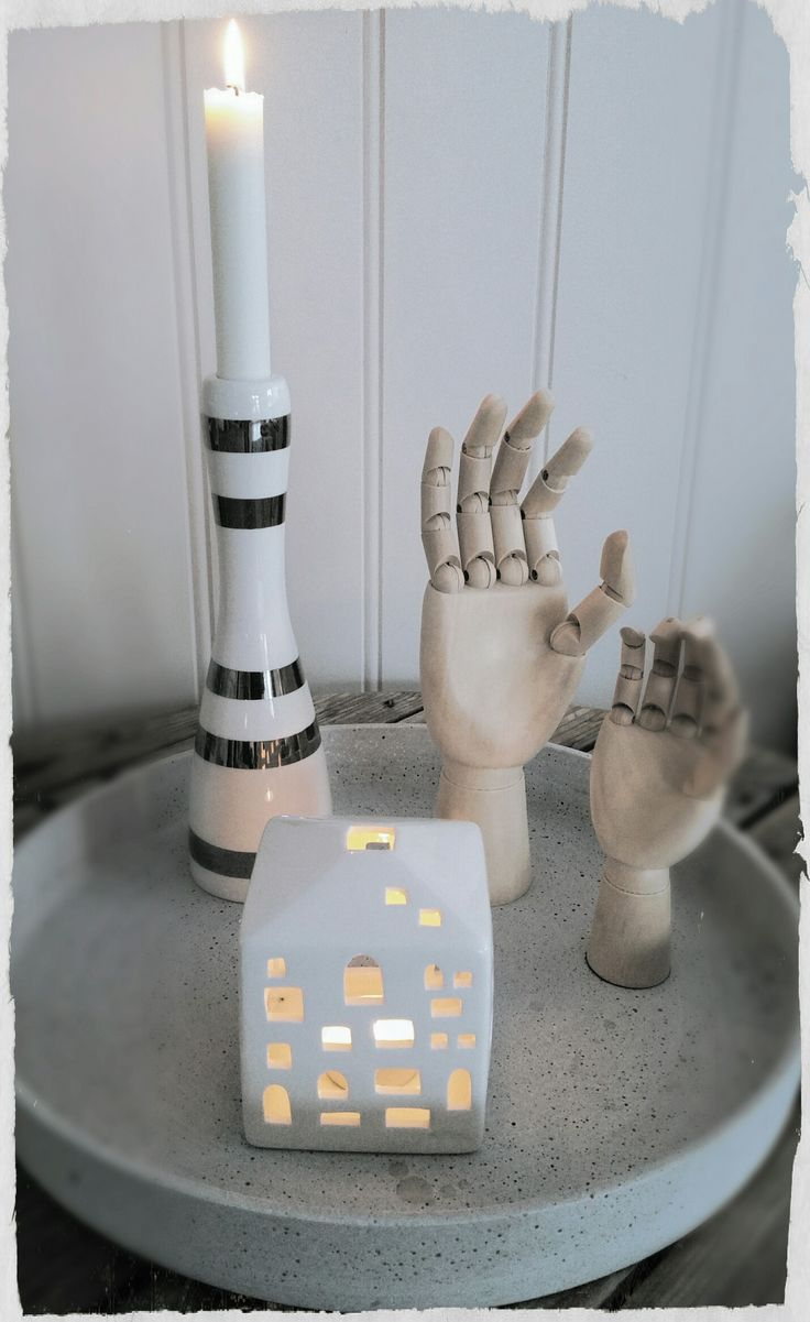Kähler lysestaker og hender fra Hay design.