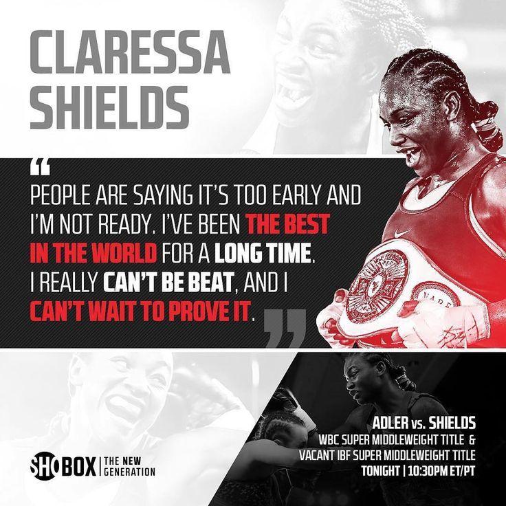 @claressashields in action tonight on Showtime against @nikkiadler  _____________________________________ #Boxing #Boxeo #RoundByRoundBoxing #BoxingNews #RBRBuzz #RBRBoxing #ShowtimeBoxing #ShoBox #Boxen #WomensBoxing #BoxingHype #BoxingFanatik #BoxingGuru #ClaressaShields #WBC #IBF
