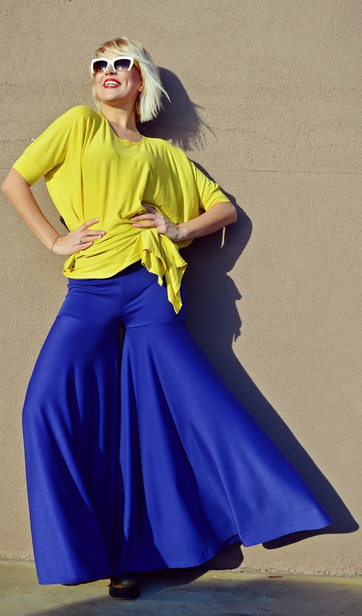 Now selling: Royal Blue Pants TP24, Loose Jersey Pants, Blue Extravagant Flared Pants, Casual Blue Pants, Groovy Pants by TEYXO https://www.etsy.com/listing/495147047/royal-blue-pants-tp24-loose-jersey-pants?utm_campaign=crowdfire&utm_content=crowdfire&utm_medium=social&utm_source=pinterest