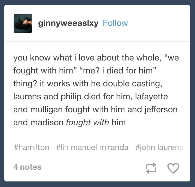 I could have just said this myself in a caption on an actual picture, but instead I'll just post this screenshot of a tumblr post (*whispers* by Fall Out Boy)