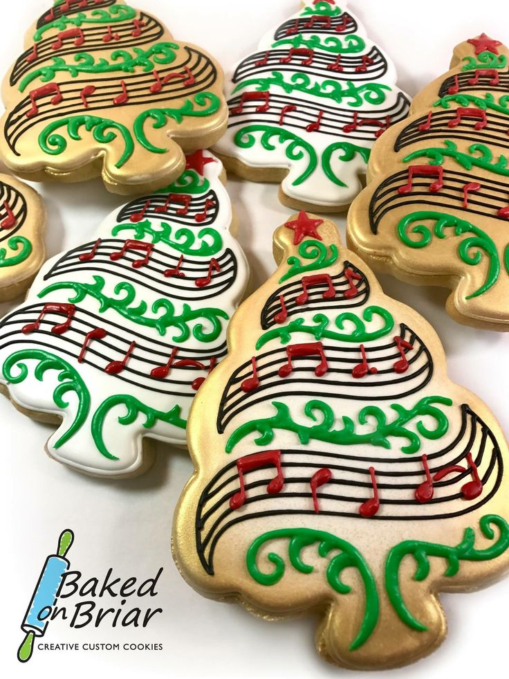 Christmas tree cookies by Baked on Briar