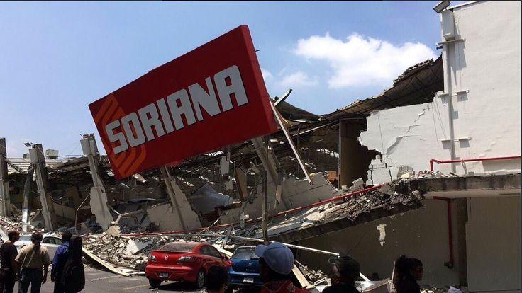 Tienda Soriana. Después del.sismo del 19/09/2017 CDMX.