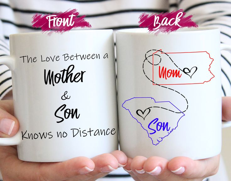 Long distance mug gift for mother motherson long