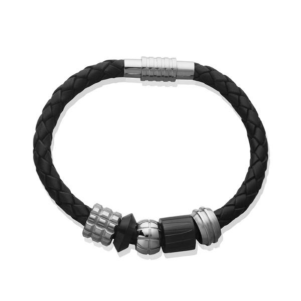 Men's Leather Composed Bracelet SB1492