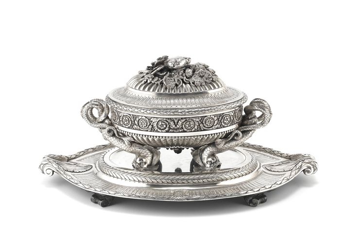 Austrian silver tureen (1780-81) owned by Marie Antoinette's sister dominates Bonhams Silver Sale (19 June 2013, Sale 20781, Lot 151). A survivor of the fabled Taschen-Saschen silver service given as a wedding present to Marie Antoinette's estranged sister Maria ('Mimi') Christina, the tureen doubled its estimate price, selling for £433,250. www.bonhams.com/auctions/20781/lot/151/