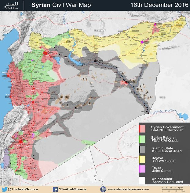This post was originally published on this sitealmasdarnews.com BEIRUT, LEBANON (9:15 A.M.) – December has proven to be the most critical month in 2016 after several areas exchanged hands between a number of parties engaged in this nearly 6 year old long Syrian war. Starting with the Damascus front, the Syrian Armed Forces managed to get the jihadist rebels of …