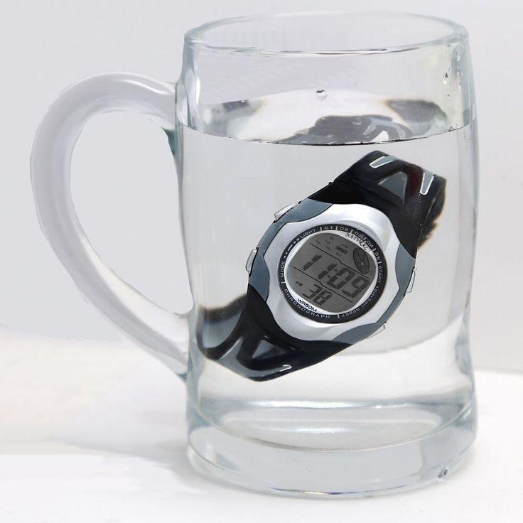 DW313L ПНП Matt Silver Watchcase воды Сопротивление Мужчины 100% испытанное 3ATM Цифровые часы