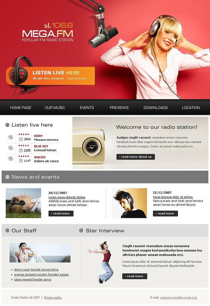 Radio Website Website Template #17837