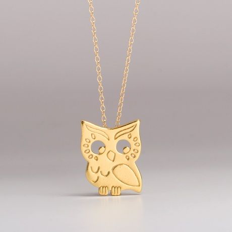 The Gorjana Owl Necklace  Teensy and charming enough that you'll wear it for as long as we can.  http://www.gorjana.com/products/Owl-Necklace  Price $85