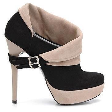 Gorgeous black & cream shoes