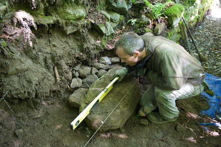 Criar uma pedra argamassa Parede de retenção