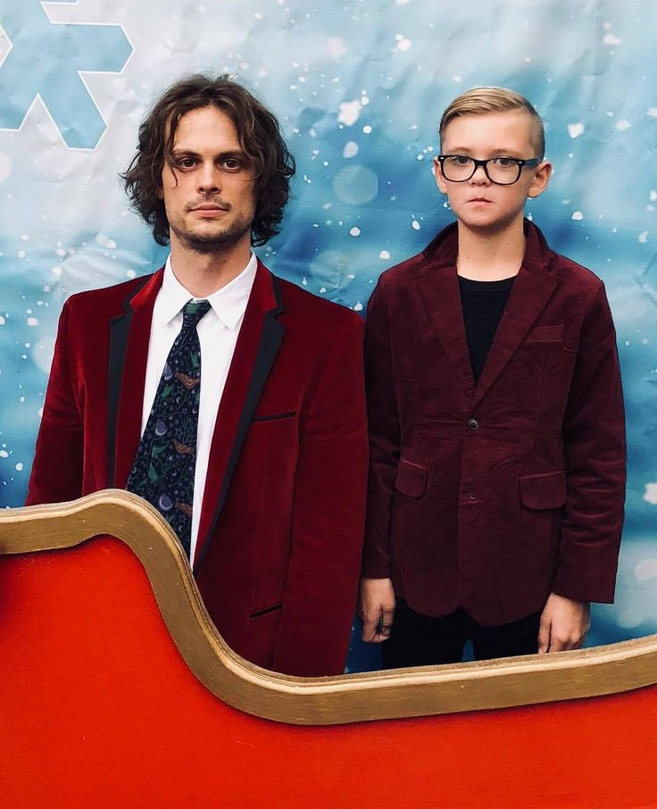"crimmindsdaily:  ""Matthew Gray Gubler and Mekhai Andersen at the Criminal Minds Holiday Party for the cast and crew at The Magic Castle, December 10 (shared by AJ Cook's husband, Nathan Andersen)  ""nathanandy: Album drops Friday. #thevelveteers..."