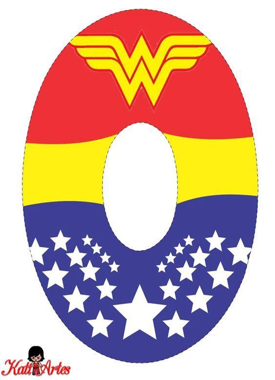 Wonder Woman Free Alphabet. Alfabeto Gratis de la Mujer Maravilla.