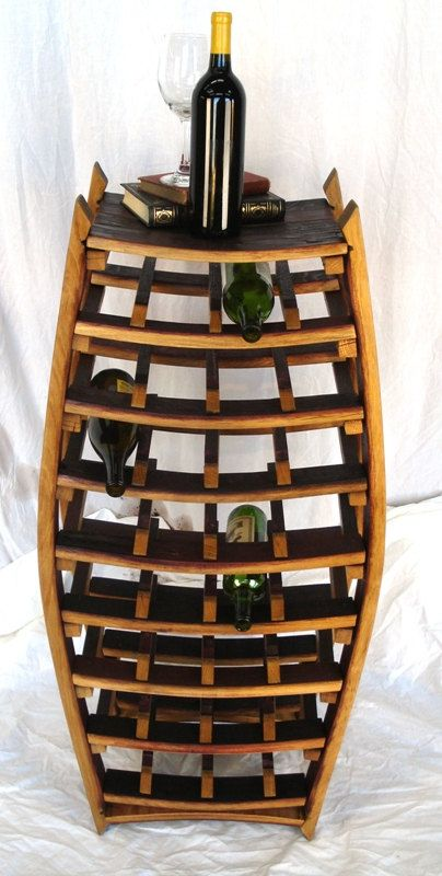 Large Narrow Wine Barrel Rack 100 By Winecountrycraftsman On Etsy, $300.00