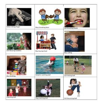 Action Pictures and Action Word Checklist  - Pinned by @PediaStaff – Please Visit ht.ly/63sNtfor all our pediatric therapy pins