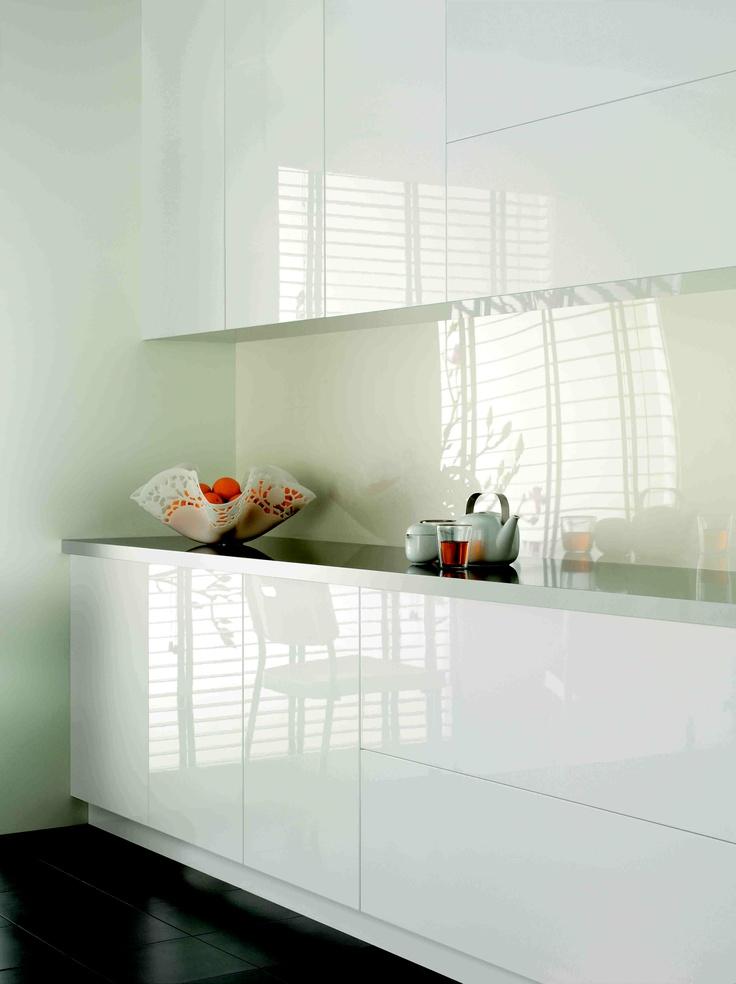 Laminex ColourTech doors Gloss Polar White.