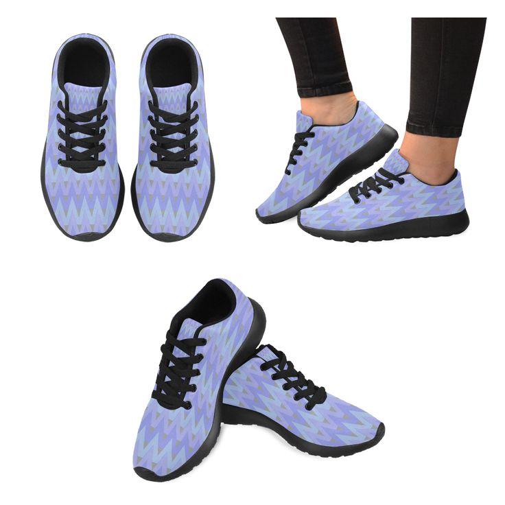 Winter Chevrons Women's Running Shoes (Model 020)