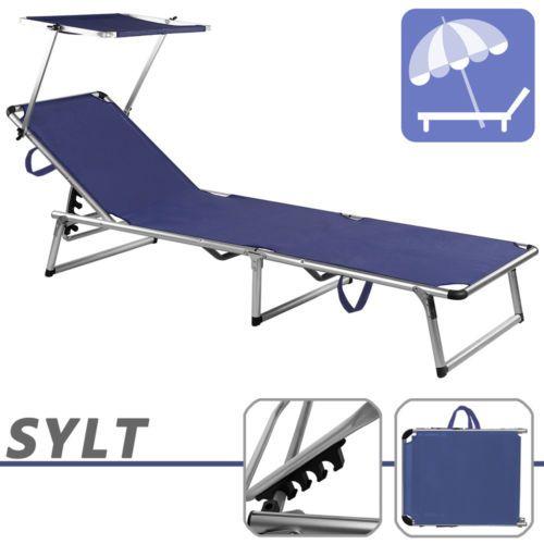ALU-Liege-SYLT-Sonnenschirm-Gartenmoebel-Liegestuhl-Gartenliege-Sonnenliege-NEU