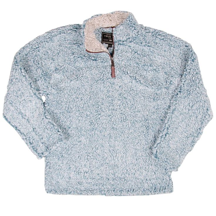 True Grit 1/4 P/O Frosty Tip Pile Aqua M Mens Pullover at Amazon Men's Clothing store: