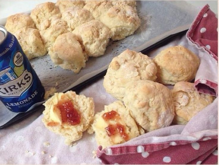 All you need is Lemonade, Cream and Flour to make these light and fluffy Lemonade Scones. They couldn't be easier. Learn how to make 100 Cookies from one batch of dough too!