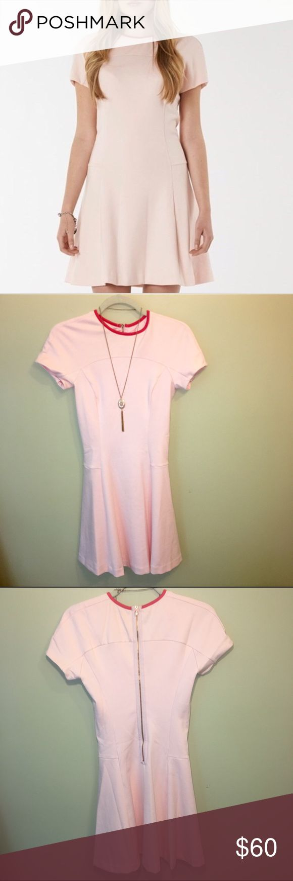 Ted Baker Fit & Flare Soft Pink Dress NWOT Ted Baker Fit & Flare Soft Pink Dress. Size 2. Original tag has been removed due to prevent store return. Never been worn. Bundle two or more items and get 20% off your purchase. Ted Baker Dresses Mini