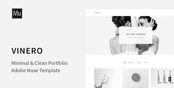 Vinero - Very Clean and Minimal Muse Portfolio Template Muse Templates / Creative by LiyaLandDesigns