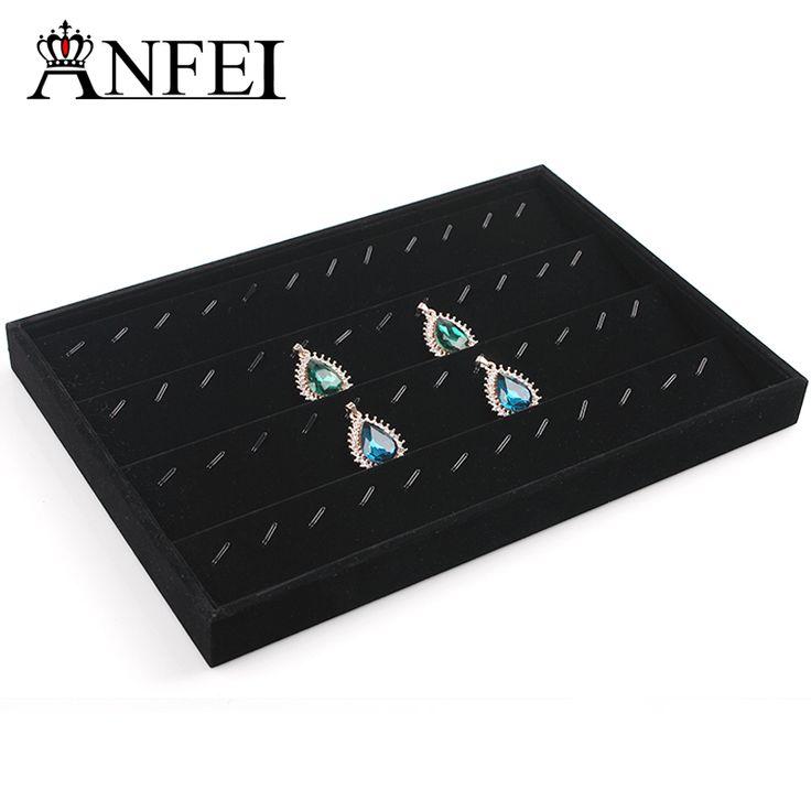 Бесплатная доставка дисплей ювелирных Ожерелье лоток дисплей Ювелирные витрины коробка Для Хранения коробка для ювелирных изделий кольца коробки ювелирных стойку