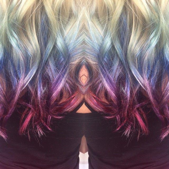 Mermaid Hair For The Summer Hairstyles Pinterest Mermaid Summer And Hair Coloring