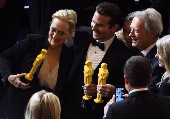 Il trio delle meraviglie! Academy Awards / Oscars 2015 Meryl Streep, Bradley Copper, Clint Estwood