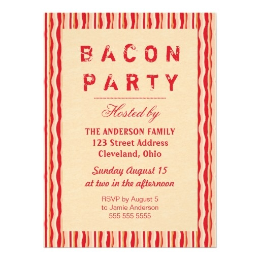 45 best party invitations images on pinterest lyrics party bacon strips party invitation typography stopboris Image collections