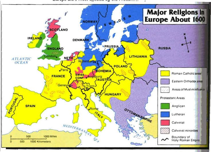 Calvinism in Europe, 1540