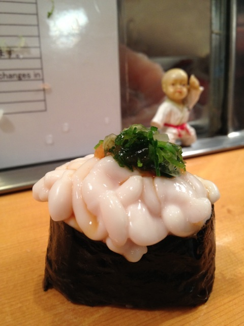 A little cod sperm sac to get ya going in the morning #SushiDai.