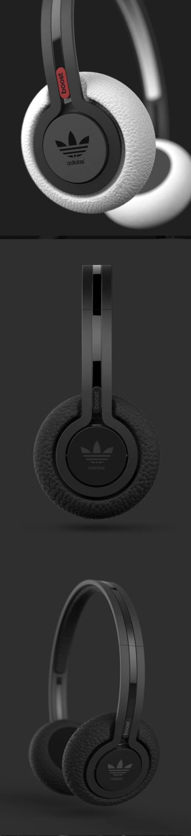 #Adidas #Black #Color #Accent #Ergonomics #Headphones #Matte #Polystyrene #White