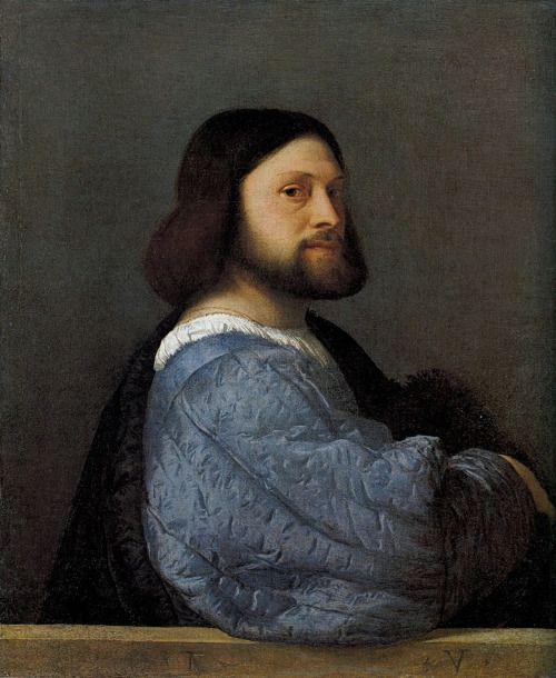 Tiziano, ritratto di gentiluomo. National Gallery, Londra.