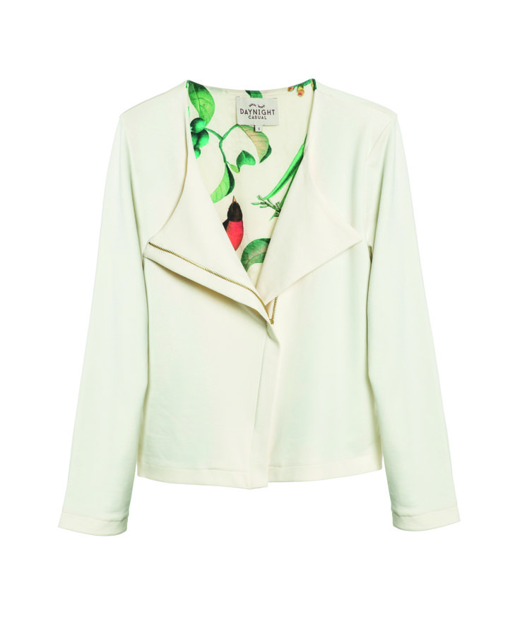 Daynight Jacket in Viscose with a Satin/Cotton lining with the Cuba Jungle print
