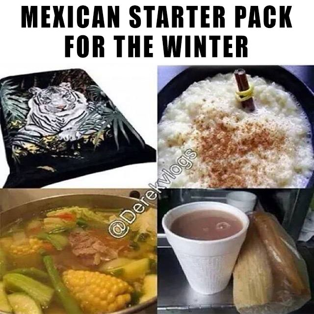 Everything a Mexican needs to survive the winter
