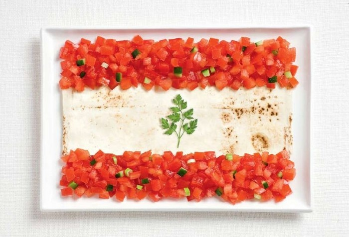 Lebanon; I wanna try tomake this with hummus, tomatoes, and mint!