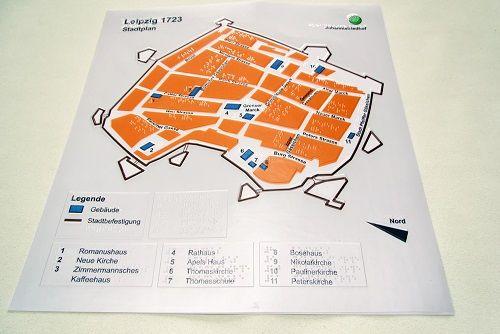 Stadtplan Leipzig 1723
