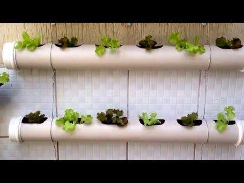 Horta Vertical em Tubos de PVC, passo a passo