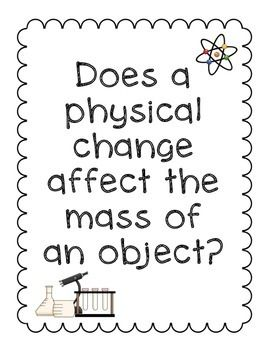 Activity Pack: Physical Changes and Conservation of Mass