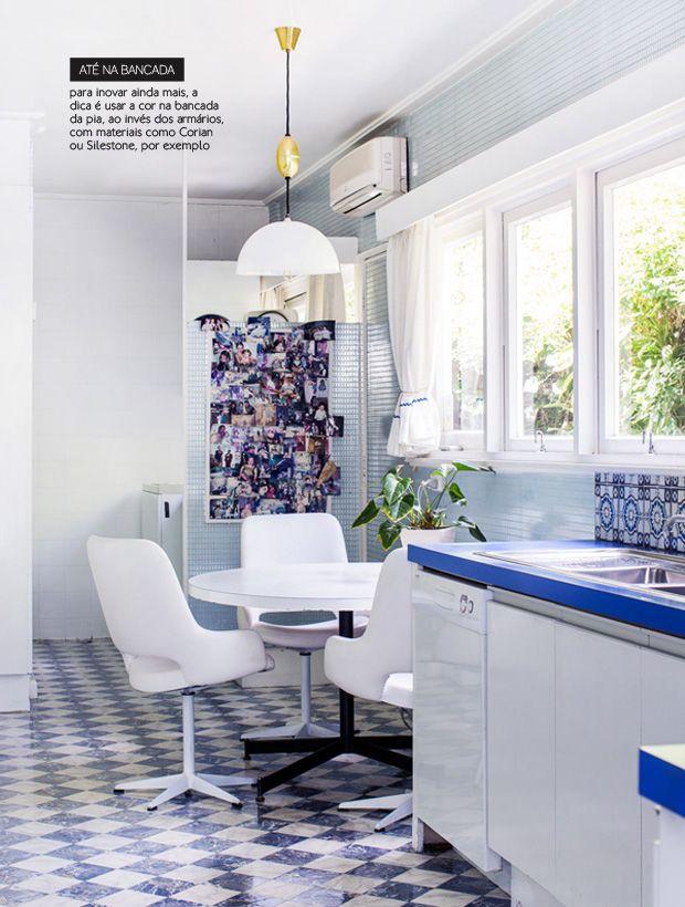 blue kitchen countertop #decor #countertop