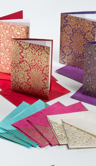 Stunningly beautiful indian cards great as thank you cards for friends and family from www.fuschiadesigns.co.uk.