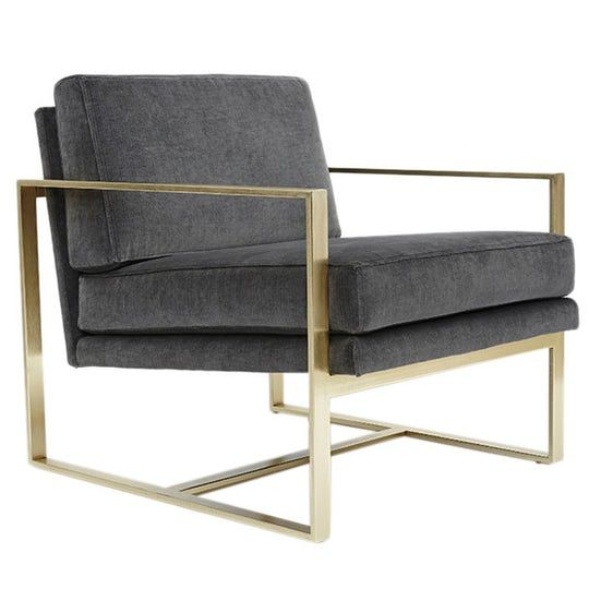 Box Chair  Industrial, Upholstery  Fabric, Metal, Leather, Armchairs  Club Chair by Lawson Fenning