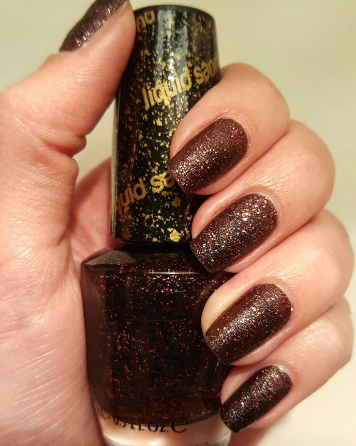Nails made with O.P.I. Liquid Sand in shade Stay The Night