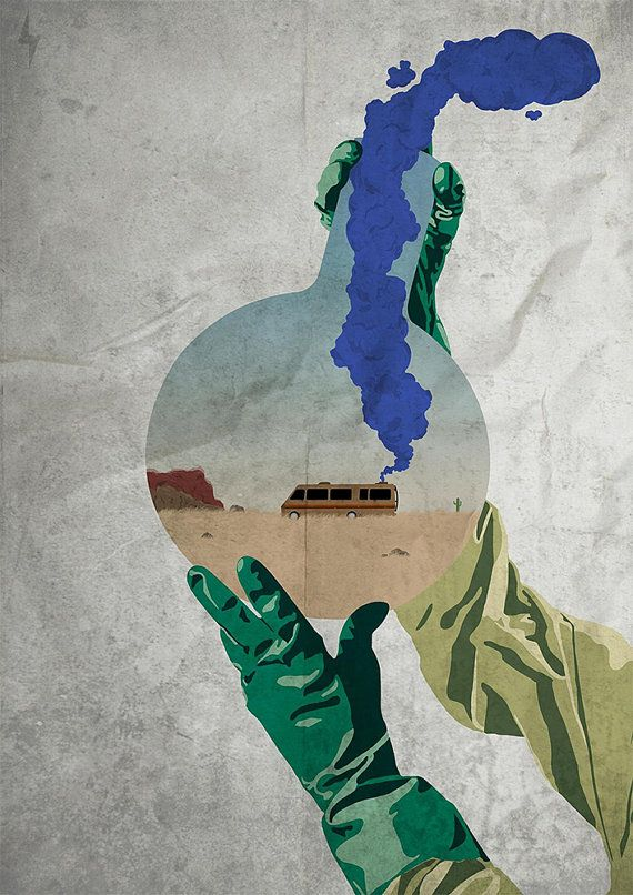 Hey, I found this really awesome Etsy listing at https://www.etsy.com/listing/199657675/breaking-bad-rv-in-test-tube-artwork-a3