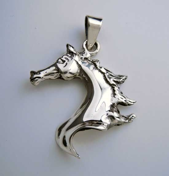 464 best horse equestrian jewelry images on pinterest diy flowing horse head pendant necklace in sterling silver aloadofball Gallery